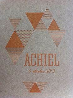'Achiel' Birth Card / Baby Card / Geboortekaart, by www.eduardplancke.be