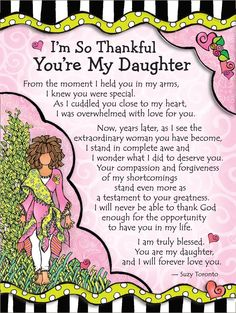 Blue Mountain Arts I'm So Thankful You're My Daughter by Suzy Toronto Miniature Easel-Back Print with Magnet Mothers Love Quotes, My Children Quotes, Mother Daughter Quotes, Mommy Quotes, Mother Quotes, Quotes For Kids, Nephew Quotes, Sister Quotes, Family Quotes