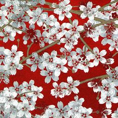 http://www.plushaddict.co.uk/wilmington-prints-hanami-falls-red-packed-cherry-blossom.html Wilmington Prints - Hanami Falls Red Packed Cherry Blossom - cotton fabric