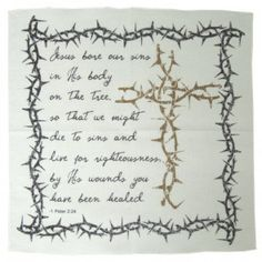 Prayer Cloth - Cross Thorns   PRACRT Christian Gifts, Prayers, Clothes, Tinkerbell, Outfits, Clothing, Kleding, Prayer, Beans