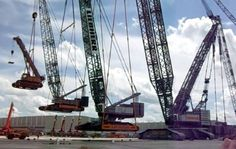 Craneception: When A Giant Crane Lifts A Big Crane That's Already Lifting A Smaller Crane… Carrying A Tiny Crane… Lifting A Model Crane
