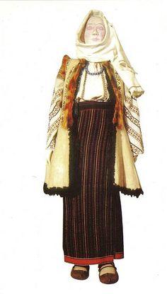 Traditional Romanian Folk Costume from Moldova- Suceava