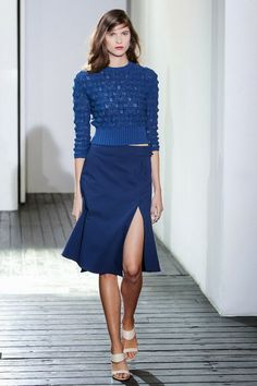 Chadwick Bell Spring 2014.   I like the shape of the sweater