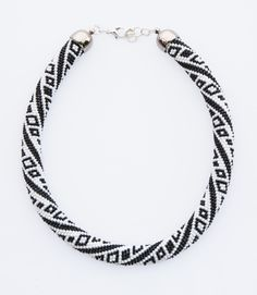 "❤ ""Black & White"" Necklace by Natalia Dąbrowska #Lowyt"