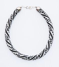 """❤ """"Black & White"""" Necklace by Natalia Dąbrowska #Lowyt"""