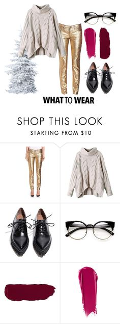 """""""what to wear this christmas"""" by missmikey on Polyvore featuring Versace, Jeffrey Campbell and NARS Cosmetics"""