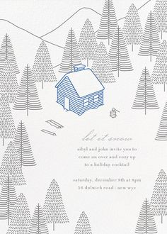 To Grandmother's House We Go by Paperless Post. Send custom online holiday party invitations with our easy-to-use design tools and RSVP tracking. View more holiday invitations on paperlesspost.com. #holiday_parties  #holiday_invitations  #happy_holidays