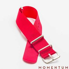 Red nato available in steel and gold buckle: http://momentum-dubai.com/collections/watch-straps/products/watch-strap-nato-red