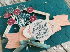 Beautiful Bouquet stamp set, Pretty Label Punch, Lovely Laurel Thinlits with Ombre Ribbon by Kate Morgan, Independent Stampin Up Demonstrator Australia #OnStage2017