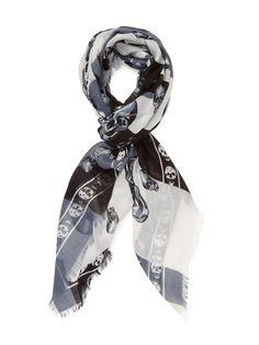 Skull Print Oblong Scarf, x by Alexander McQueen at Gilt Skull Print, Alexander Mcqueen Scarf, Clothes For Women, Stitch, Inspiration, Style, Fashion, Outerwear Women, Biblical Inspiration