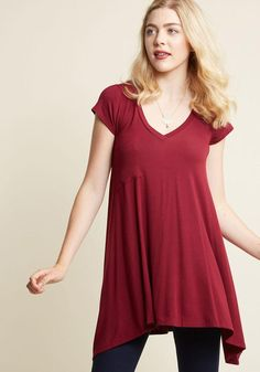 ModCloth - ModCloth A Crush on Casual Tunic in Mulberry - AdoreWe.com