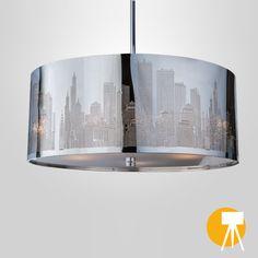 Good  Deckenleuchte New York Skyline Lichter u Lampen Newyork Silber