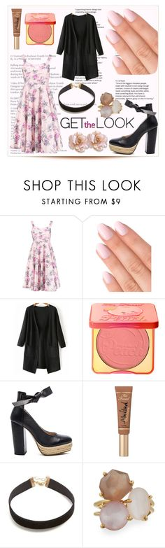 """""""Untitled #23"""" by coffeegirl233 ❤ liked on Polyvore featuring Boohoo, Too Faced Cosmetics, Raye, Vanessa Mooney and Ippolita"""