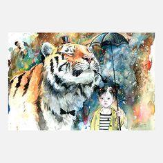 eu.Fab.com | Mr Tiger Print by Lora Zombie