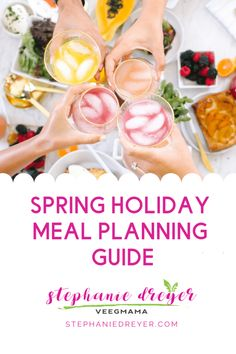 Host a beautiful and delicious Spring celebration by planning ahead! Get organized and inspired with my Passover and Easter meal planning video and guide. Easter Recipes, Holiday Recipes, Passover And Easter, Vegan Meal Plans, In Season Produce, Meals For The Week, Favorite Holiday, Plant Based, Meal Planning