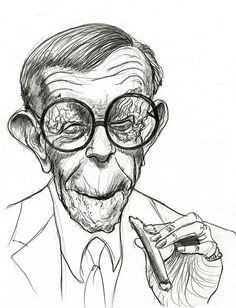 #Caricature: George Burns - http://dunway.com/
