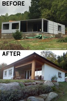 Building A Container Home, Container Cabin, Container Buildings, Container Architecture, Container House Design, Tiny House Design, Shipping Container Home Designs, Shipping Containers, Shipping Container Conversions