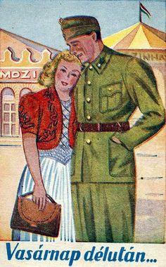 Magyar feltámadás, harcoló honvédek, leventemozgalom, bolsevik veszély, légoltalom és hungarizmus. A dicsőségtől a pusztulásig. Súlyos mondanivaló és művészet. Magyar plakátok egy jövőnket meghatározó korszakból. Retro Posters, Vintage Posters, My Town, Budapest Hungary, Illustrations And Posters, World War Ii, Mammals, Wwii, History