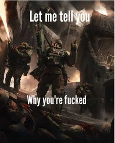 Warhammer 40k Memes, Warhammer Art, Warhammer Fantasy, Warhammer 40000, Gamer Humor, Gaming Memes, Warhammer Imperial Guard, Video Game Memes, Military Humor