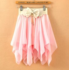 9d2875a8c A 080112 Solid Color Chiffon Pleated Skirts Irregular on Luulla by ana9112