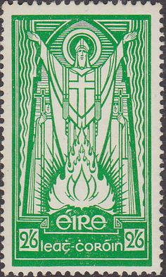 Postage Stamps of Eire Ireland 1943 Eire Issue St Patric SG 123 Fine Used Scott 121 Other British Commonwealth Empire and Colonial stamps Here