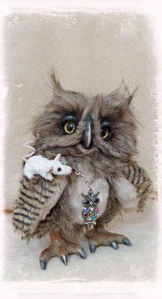 Izzy the Owl by Bears & Friends by Jelena K. (xellisart)