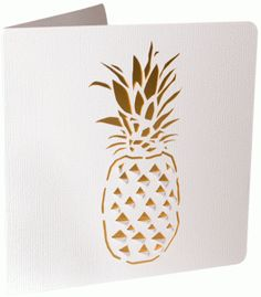 Silhouette Design Store - View Design #87151: pineapple cutout card