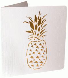 Silhouette Design Store - View Design #87151: pineapple cutout card