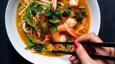 Aromatic Shrimp and Noodle Medicine Soup Recipe   Bon Appetit