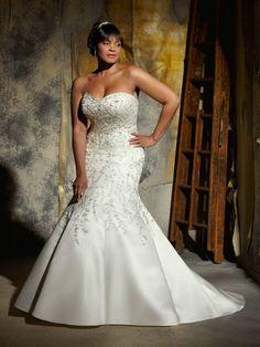 Plus Size Wedding Dresses   Sweetheart Neckline Appliques Plus Size Wedding Dresses