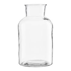 Large Glass Vase: This Simple Large Glass Vase is a classic shape perfect for larger arrangements. Can also be used for simple storage.