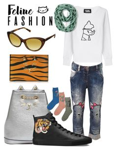 """""""Feline fashion"""" by alice-durica ❤ liked on Polyvore featuring Michael Kors, Karl Lagerfeld, Charlotte Olympia and Gucci"""