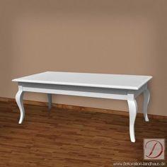 Couchtisch LONDON weiß B120cm Pinie Massivholz - Schlichte Eleganz bestimmt diesen Tisch. Lassen Sie sich von der aufwendig gearbeiteten Oberfläche überzeugen.