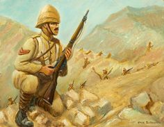 A British soldier, Boer War British Soldier, British Army, Military Art, Military History, War Novels, History Of England, British Colonial, Warfare, Illustration