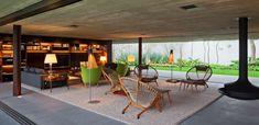 House by Marcio Kogan Nominated at 2012 World Architecture Festival - Home Design and Home Interior Lounge Decor, Home Studio, Contemporary Architecture, Architecture Design, Studio Mk27, World Architecture Festival, Interior And Exterior, Interior Design, Ligne Roset