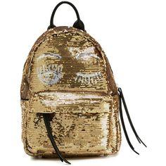 Chiara Ferragni mini 'Flirting' backpack (39.110 RUB) ❤ liked on Polyvore featuring bags, backpacks, grey, gray backpack, leather rucksack, mini backpack, grey leather backpack and mini leather backpack