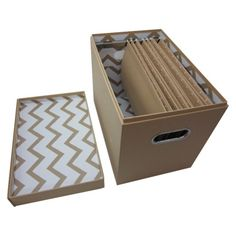 Filing Boxes Decorative Woven File Box  Basket Love  Pinterest  Decorating
