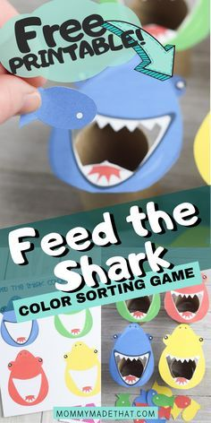 Feed the Shark Game with Free Printable