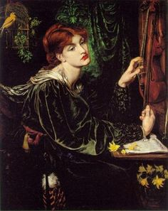 Dante Gabriel Rossetti   Veronica Veronese  This was the painting on the picture sleeve for Roxy Music's 45 of the song More Than This.  I was so enchanted with this painting, I wanted to know everything there was to know about Rossetti. This started me on Pre-Raphaelite journey.