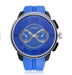 S9483G Silicone 53MM Large Case Stainless Steel Back Men's Fashion or Sports watch