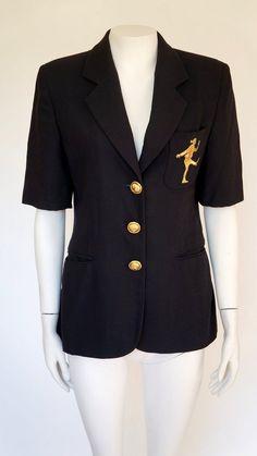 Moschino jacket Cheap Chic vintage blazer gold button size