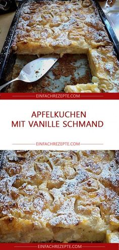Apfelkuchen mit Vanille Schmand 😍 😍 😍 Sponsored Sponsored Apple cake with vanilla sour cream 😍 😍 😍 Easy Smoothie Recipes, Easy Smoothies, Snack Recipes, Snacks, Sour Cream Apple Pie, Cream Pie, Lemon And Coconut Cake, Blueberry Recipes, Cinnamon Cream Cheeses