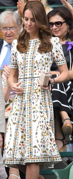 Kate Middleton Wimbledon Men's final 2016-Alexander McQueen