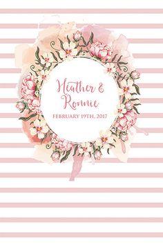 C0106 Custom Floral Wedding Backdrop Pastel Background