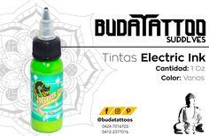 Tintas electric gama de colores primarios disponible en @budatattoos venta por Oz.  Facebook: Buda Tattoo Instagram: @budatattoos Twitter: @budatattoos_ budatattosupply@hotmail.com  Contacto: 0424-7016703 / 0412-2377016 También por whatsapp  #budatattoo #tattoo #tatuaje #venezuela #merida #supply #tattoosupply #ink #tattooink #tattooing #art #tattooart #tattoos #inked #instatattoo #bodyart #artist #tatuadoresvenezuela #masvidamastattoo #tattooaddict #inklife #tattoostyle #tattoomania #arte…