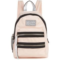 Womens Backpacks Marc Jacobs Domo Arigato Blush Nylon Backpack ($225) ❤ liked on Polyvore featuring bags, backpacks, nylon bag, marc jacobs, nylon backpack, nylon zipper bag and marc jacobs knapsack