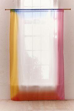 Rainbow Airbrush Border Window Curtain, Urban Outfitters