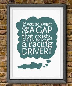 Ayrton Senna Quote.