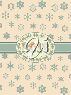 iCLIPART - New year clip art background in vintage style with snowflakes, border and ribbon