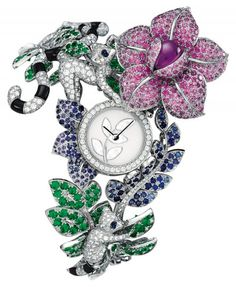 Van Cleef & Arpels | High Jewelry Timepiece Makis Décor | White Gold | Watch database watchtime.com